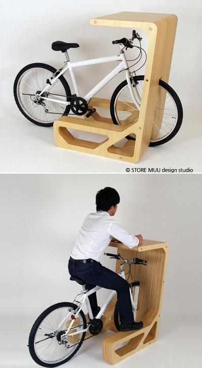 DeBrarian :: '자전거 테이블' 자전거 주차하면 책상으로 변신