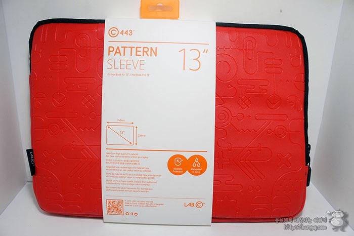 맥북 파우치, 랩씨, 패턴 슬리브, 맥북프로 13인치