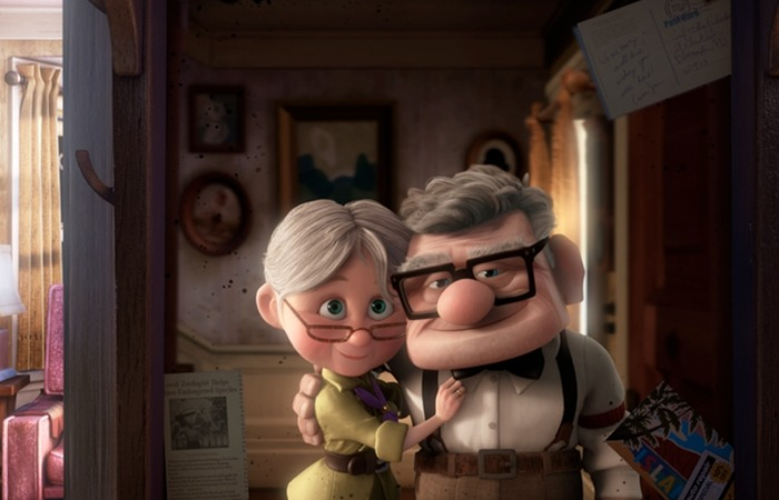 사진: 애니메이션 업에 나오는 엘리(왼쪽)과 칼(오른쪽). 모험을 꿈꾸며 살던 부부이다. 엘리가 죽은 후 칼은 진정한 모험을 찾아 떠나게 된다. [영화 업 줄거리]