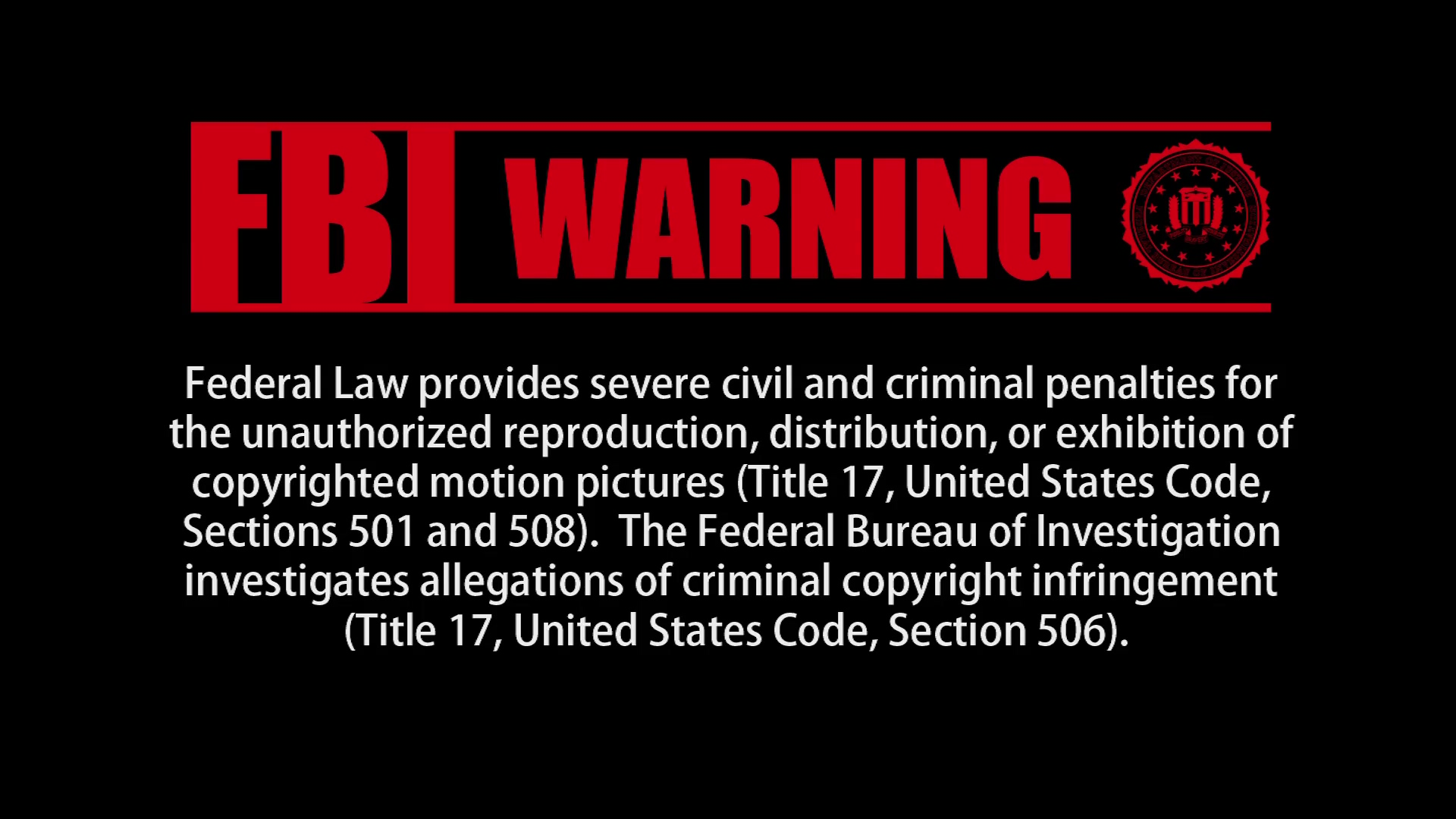 fbi warning: