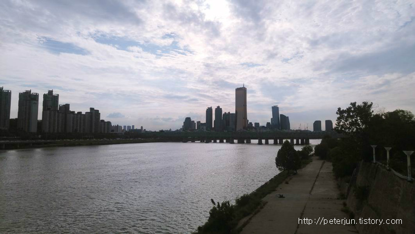 한강대교에서 바라본 풍경