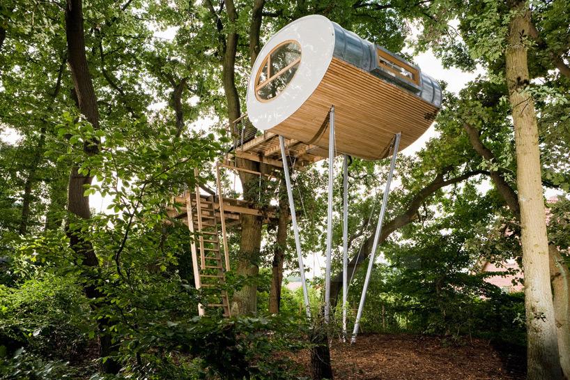 *트리 하우스 [ Baumraum ] Backyard Escape_Elliptical Pod Tree ...