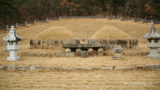 남휘(南暉)와 정선공주(貞善公主)의 묘(墓)전경
