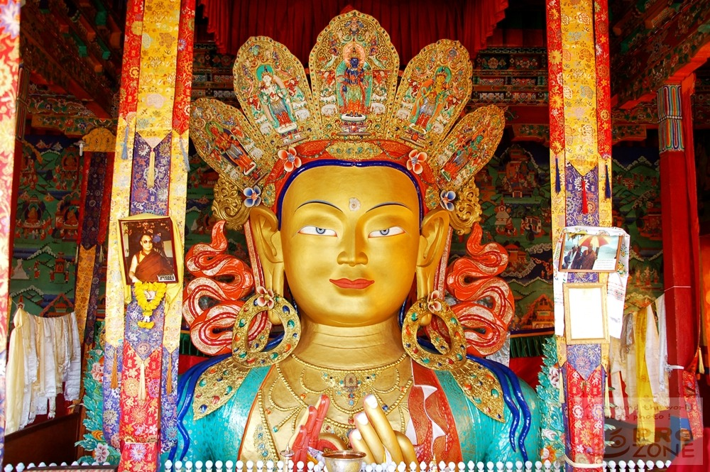 [인도] 레 틱세 곰파의 관세음보살 불상 (Chenrezig, Avalokiteshvara) / 라다크의 티베트불교 사원 틱세 곰빠 Thiksay Gompa