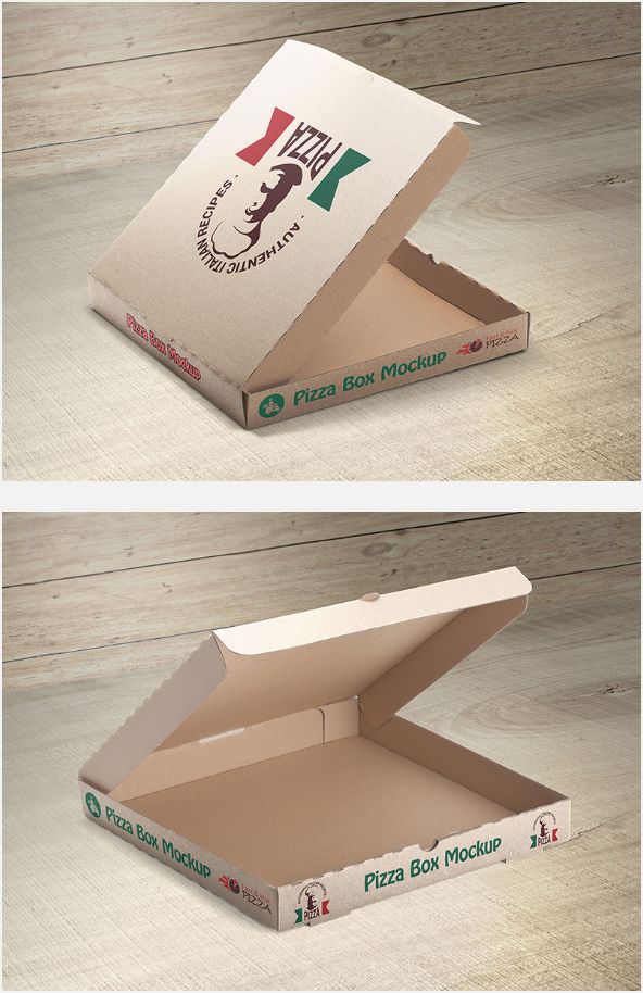 피자 박스 목업 PSD (2) - Free PSD Pizza Box Mockup