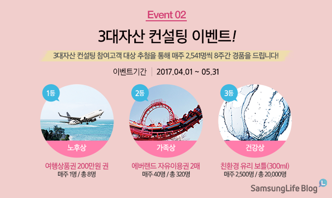 EVENT 2. 3대자산 컨설팅!