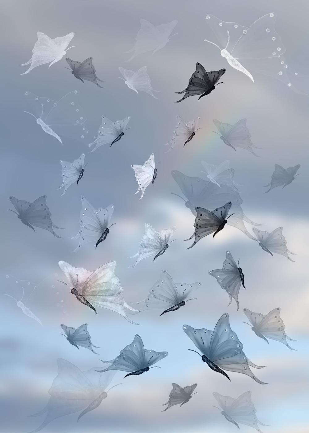 9 가지 무료 포토샵 나비 브러쉬 - 9 Free Photoshop Butterfly Brushes