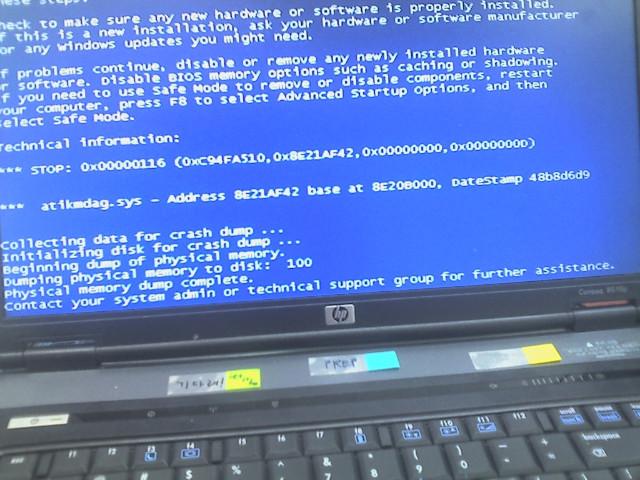 HP Compaq 8510p BSOD
