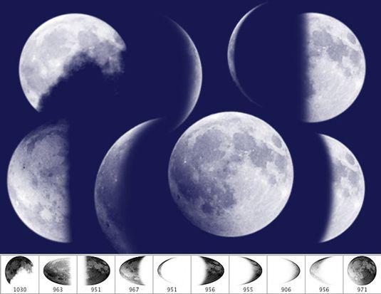 10 가지 달(moon) 포토샵 브러쉬 - 10 Free Moon Photoshop Brushes