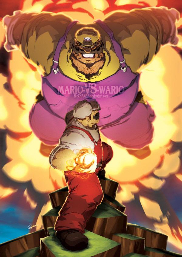 super mario - Mario vs Wario