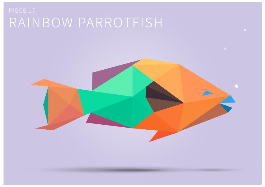 Piece 17 Rainbow parrotfish