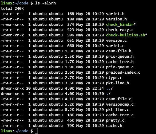 리눅스 ls 명령어 활용