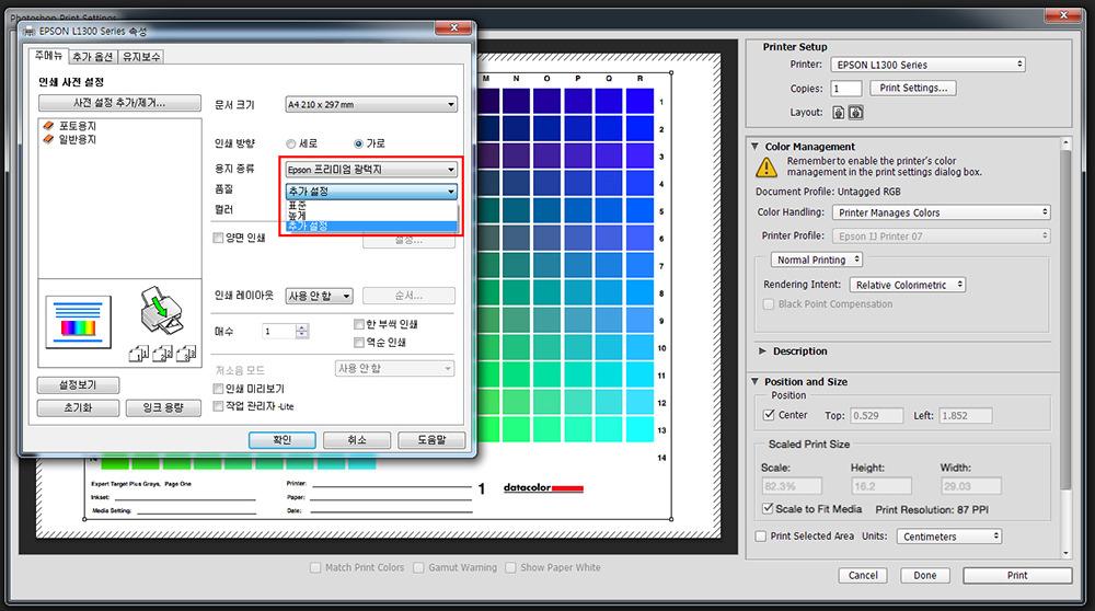 Epson L1300 설정_02