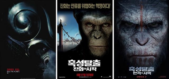 리부트 시리즈, 혹성탈출 진화의 시작, 혹성탈출 반격의 서막