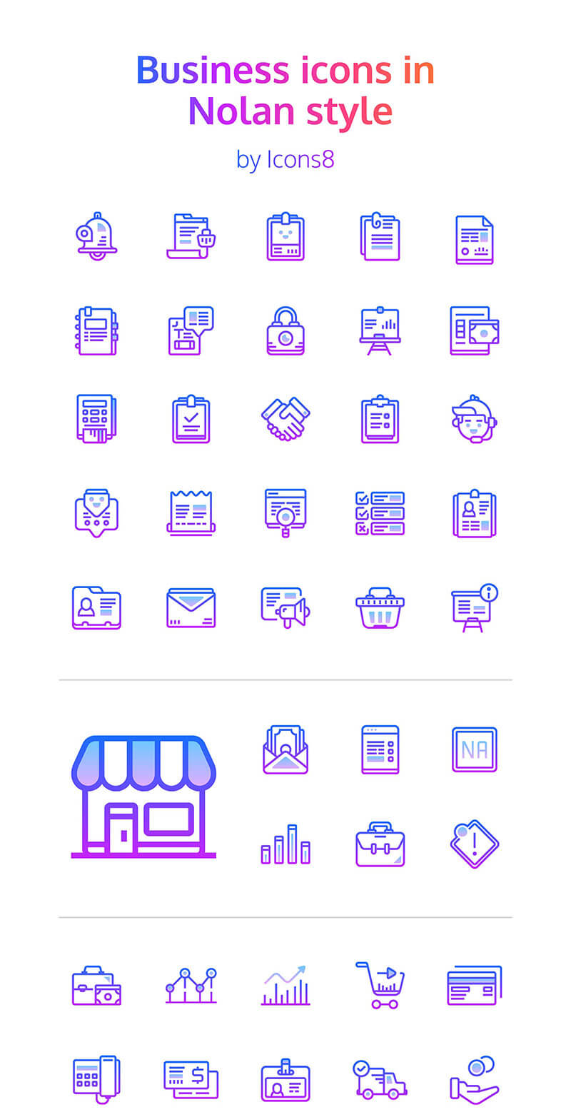 48 Nolan Business Icons