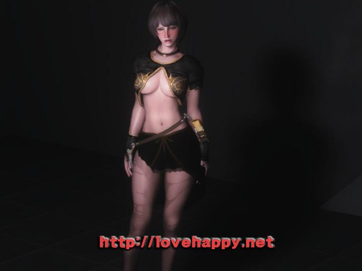 스카이림 의상 - 마법사 의상 pure fantasy mage robes hdt skyrim mod 002