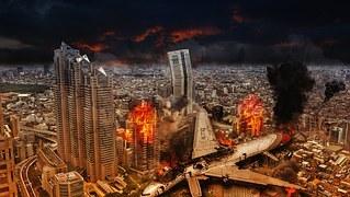 비행기 추락 일본 파괴 된 도시 압박 사고 죽음 아마겟돈 재해 세계 재앙 사고 교통 - 무료이미지