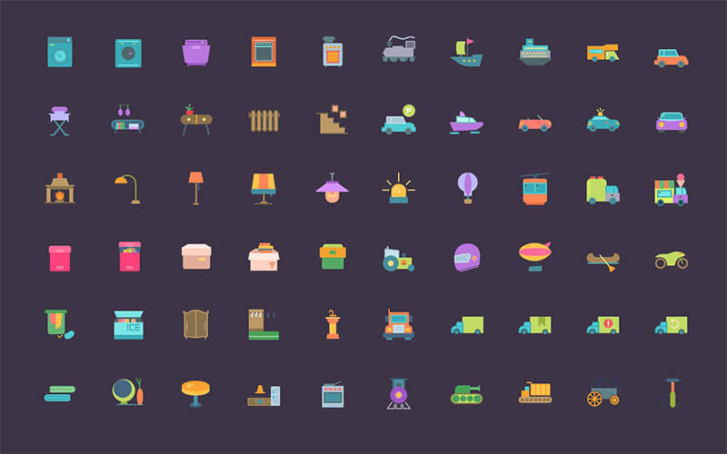 192 Transport and Household Icons