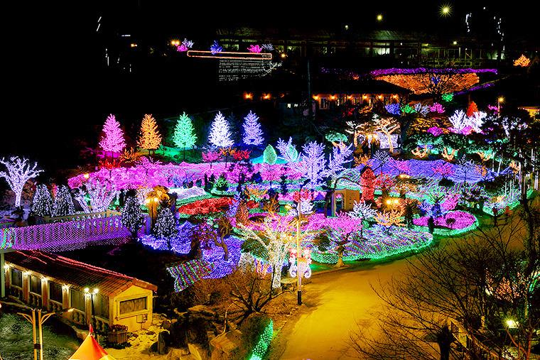 불빛동화축제 포천허브랜드 포천 야경