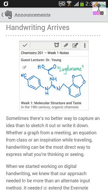 Handwriting with Evernote