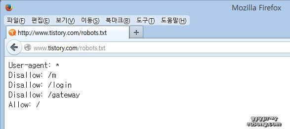 티스토리 블로그 검색엔진, 티스토리 robots.txt, tistory robots.txt, 티스토리, 티스토리 2차 도메인 robots.txt