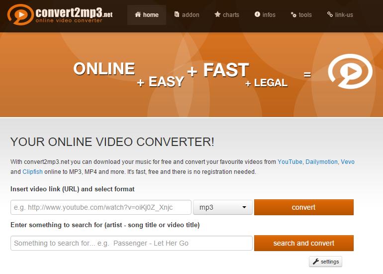 convert2mp3 사이트