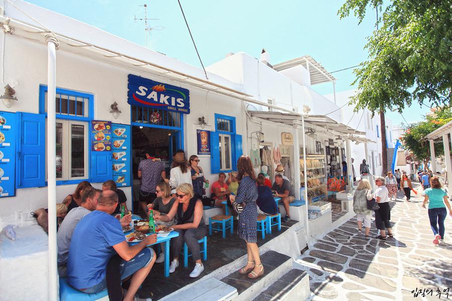 그리스 미코노스 여행엔 이 음식, 먹으면 건강해지는 기로스와 수블라키