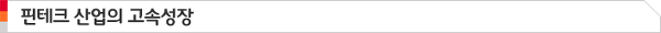핀테크 산업의 고속성장