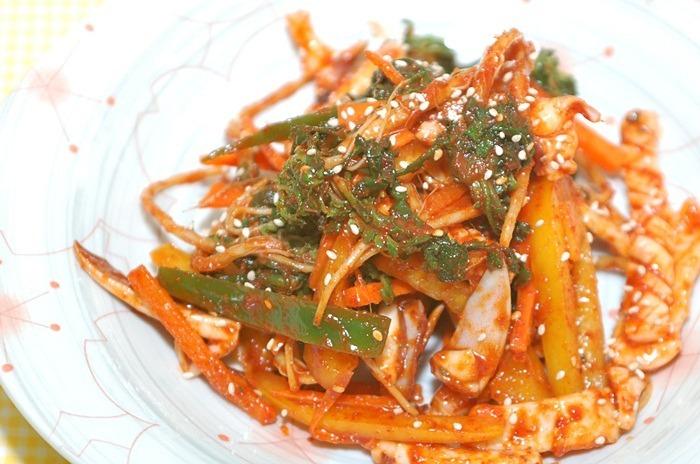 냉이오징어무침,오징어무침,봄향기,냉이요리,오징어요리,냉이요리