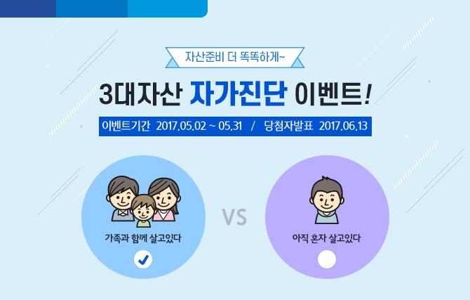 자산준비 더 똑똑하게~ 삼성생명 3대자산 자가진단 이벤트!