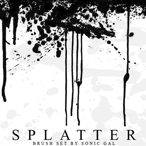 70여 가지 무료 포토샵 페인트 스플래터 브러쉬 - About 70 Free Photoshop Paint Splatter Brushes