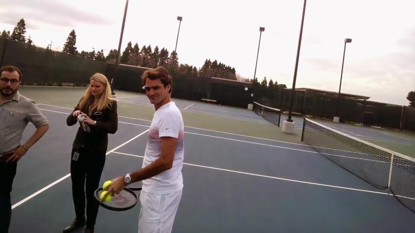 로저 페더러의 1인칭 시점을 체험해보자! - 구글 글래스(Google Glass)를 끼고 테니스 연습을 하는 로저 페더러(Roger Federer)와 스테판 에드베리(Stefan Stefan Edberg) 구글 글래스 바이럴 영상(Viral Film).