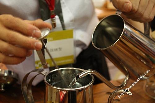 바리스타, 핸드드립, 커피, 온도