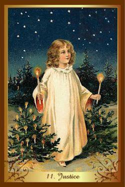 Christmas Tarot 11 Justice