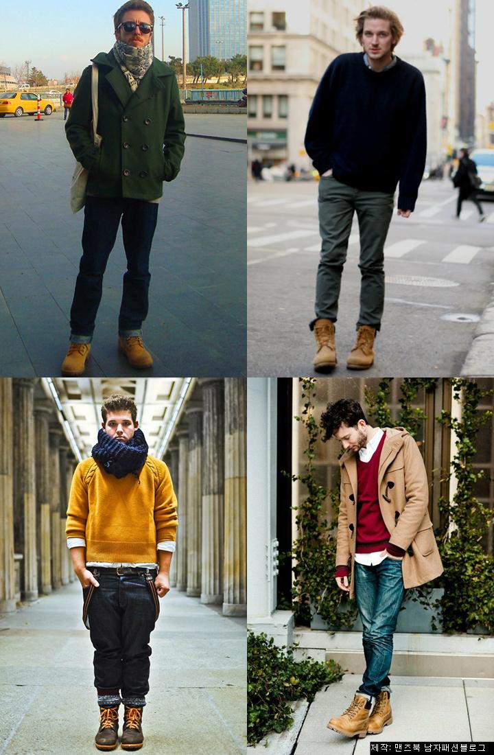 남자 팀버랜드 코디와 패션 겨울편 Timberland Boot Fashion Men S