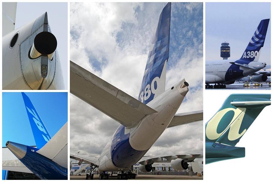 각종 항공기 APU 배기가스 배출구 (똥꼬) 모습