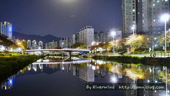 아름다운 도시야경 온천천