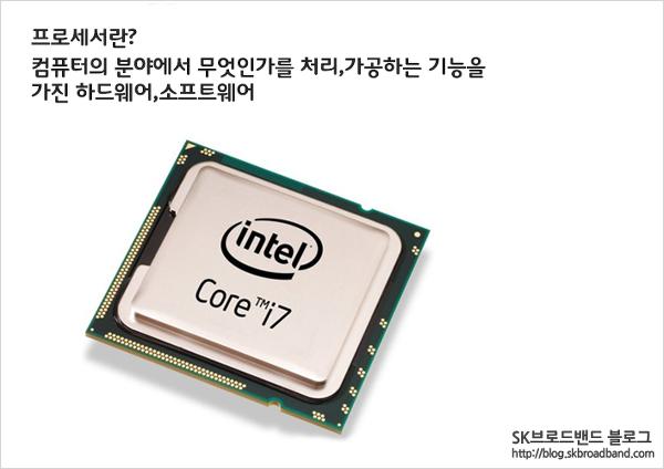 < 이미지 : 인텔의 CPU 칩 >