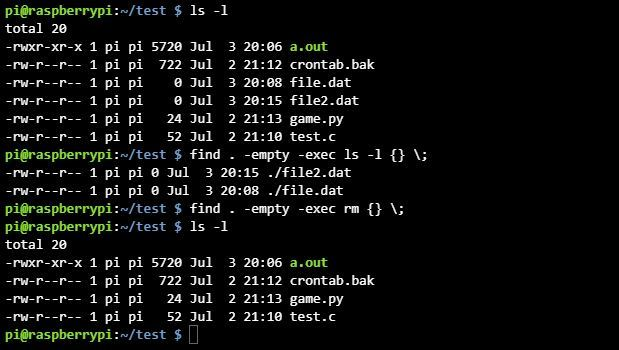 리눅스 find 명령어 exec 옵션 사용법
