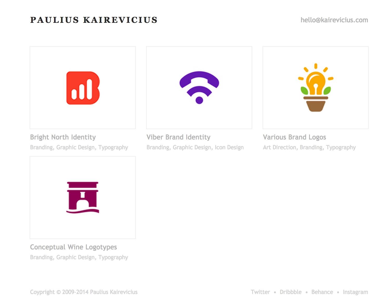 Paulius Kairevicius의 포토폴리오 사이트