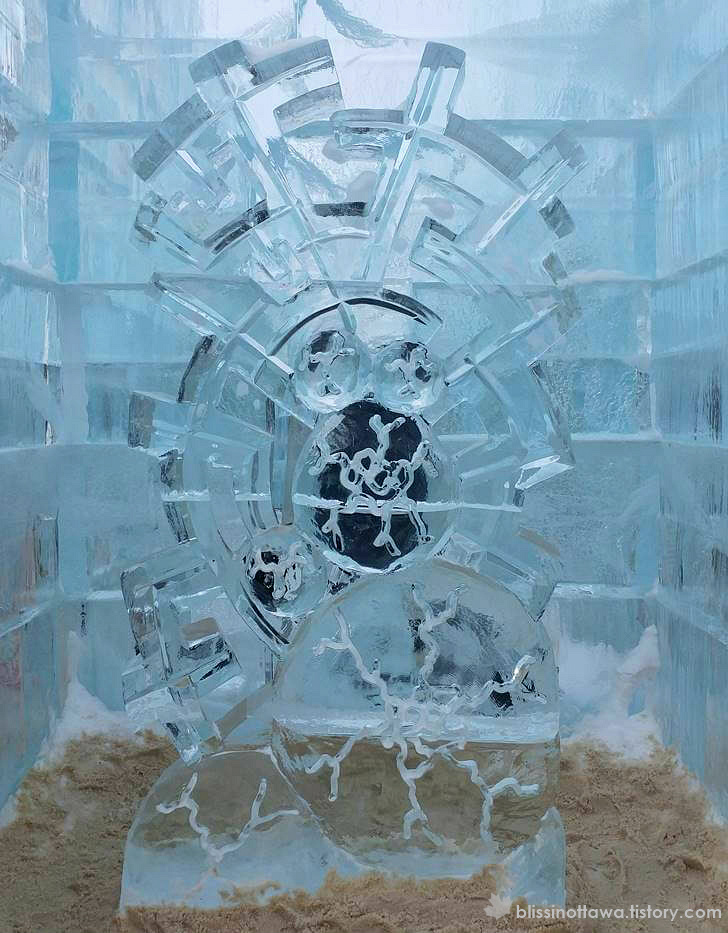 얼음 조각상입니다