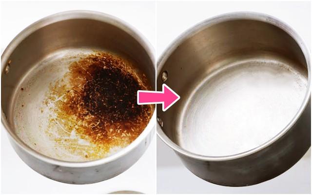 스텐 탄 냄비 쉽게 닦는법