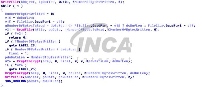 [그림 4] 대상 파일 암호화