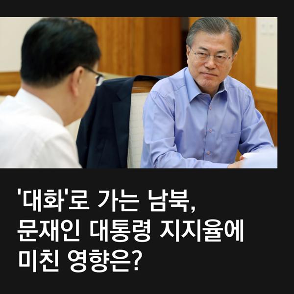[카드뉴스]한반도 데탕트와 문재인 대통령 지지율