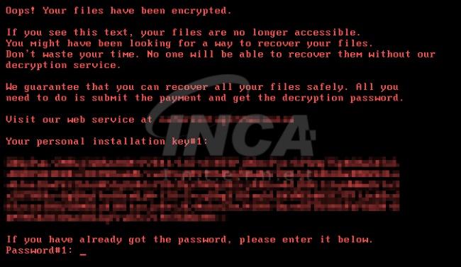 [그림 7] 감염 된 사용자 PC 부팅 화면