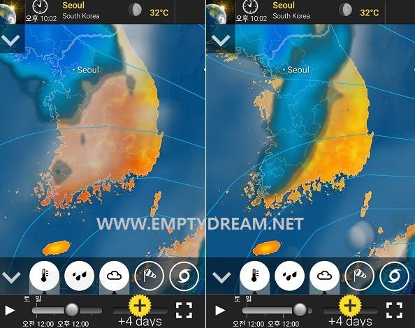 아름답고 독특한 기상정보 날씨 앱 - 윈드맵, 날씨레이더, 메테오어스