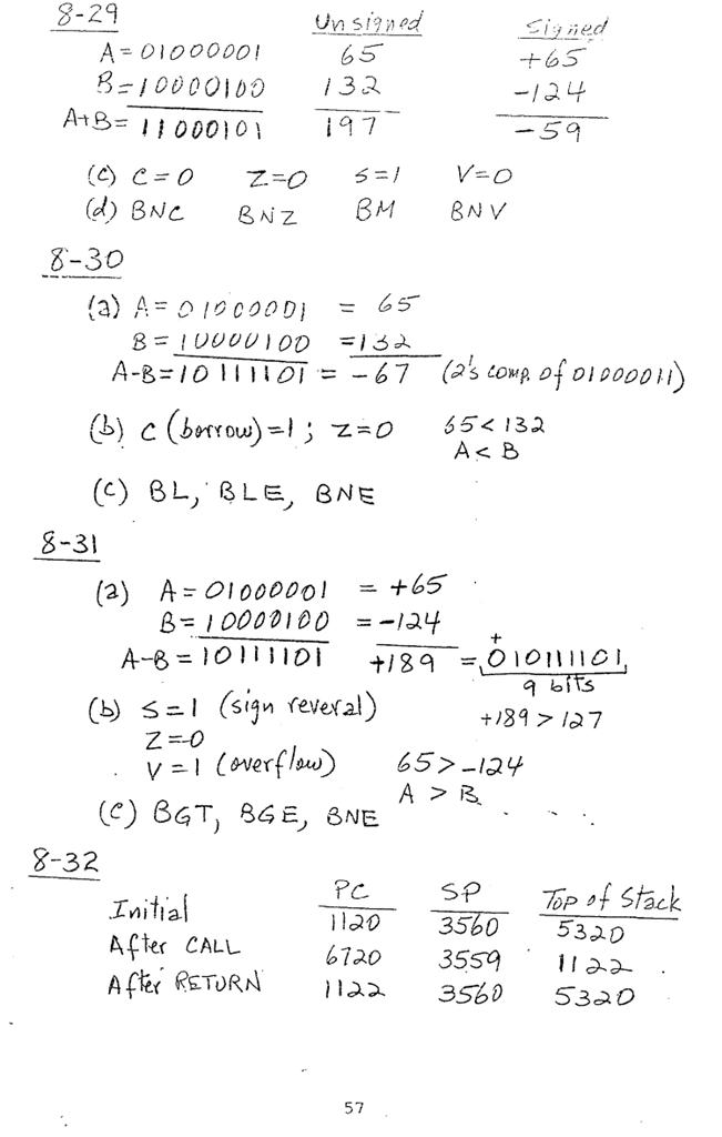 컴퓨터구조 연습문제, 모리스 마노 챕터8 57