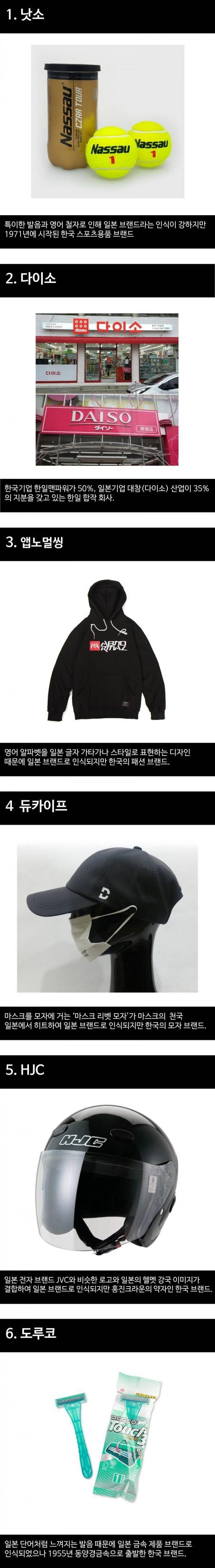 의외의 한국 브랜드