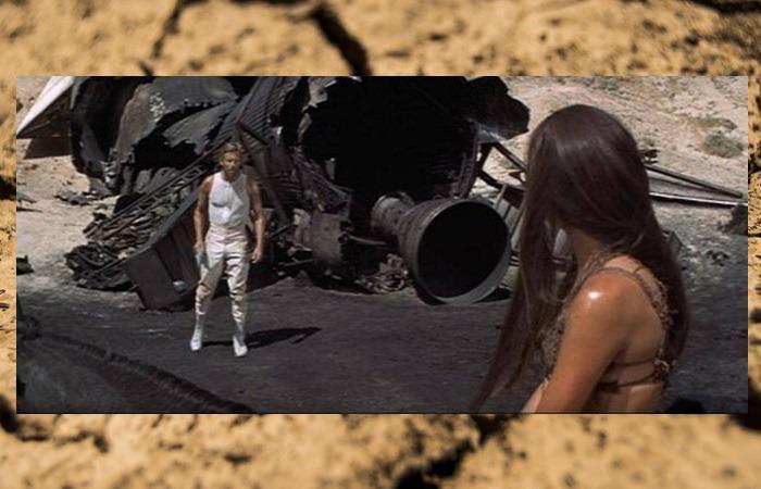 사진: 1편에서 테일러와 교감을 나눴던 퇴화한 여인 노바와 브랜트의 만남. 브랜트는 노바의 도움으로 테일러를 만나게 되고 지하도시의 음모의 줄거리가 전개된다. [혹성탈출 시리즈 - 혹성탈출2의 줄거리와 결말]