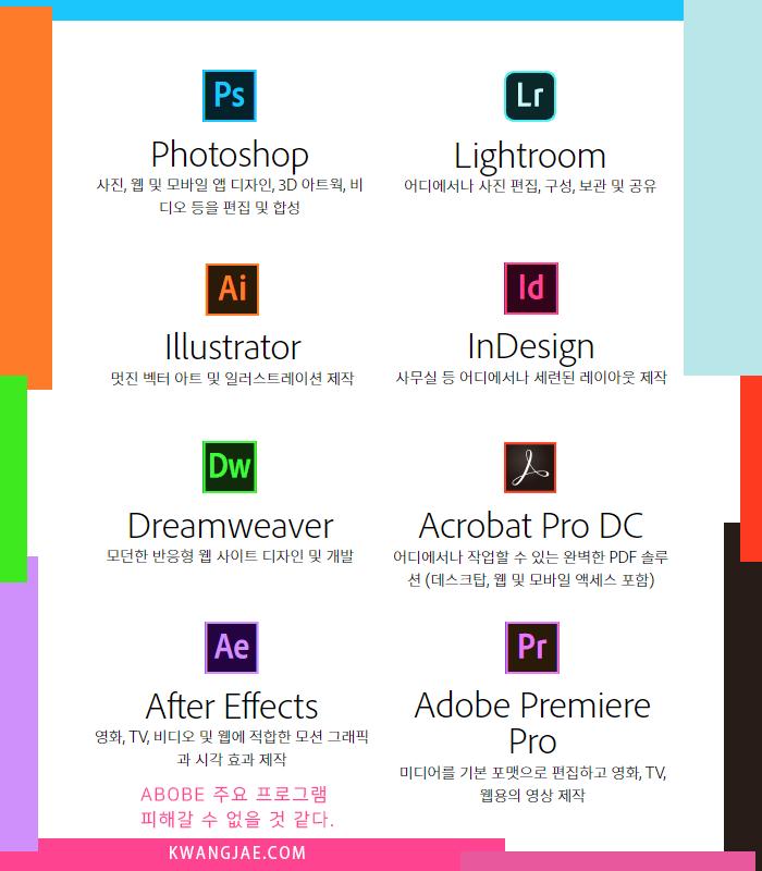 Adobe 주요 프로그램